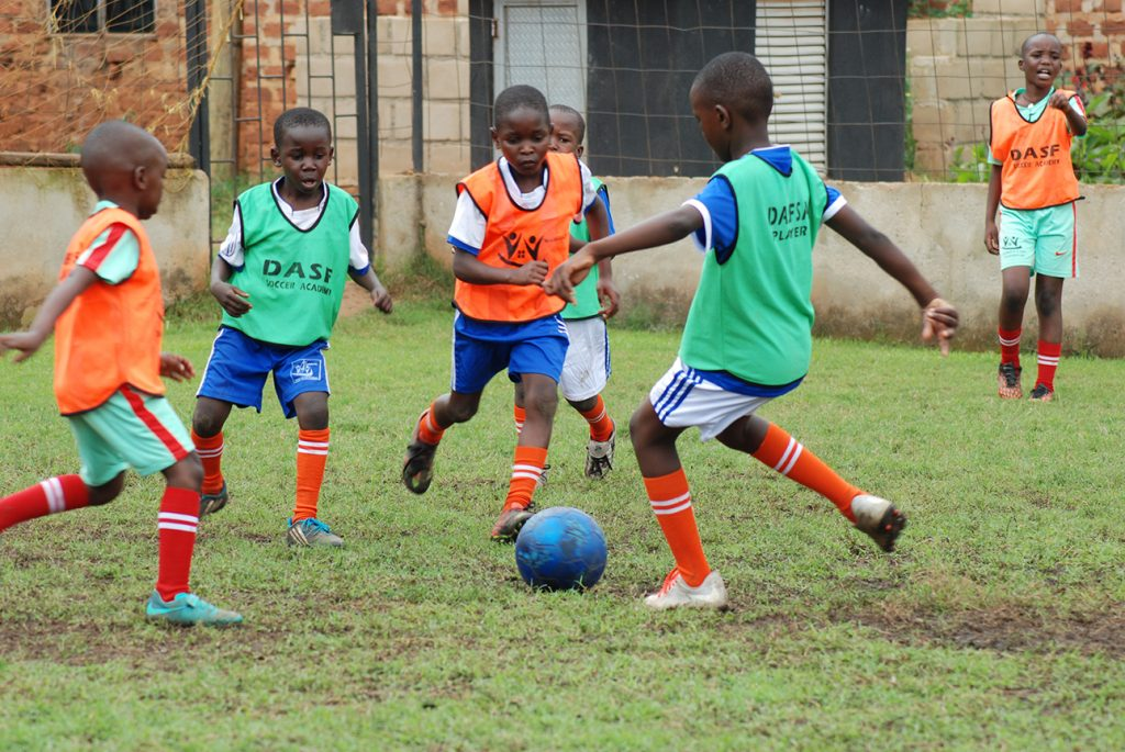 GROUP TRAINING AT SSUUBI SOCCER ACADEMY